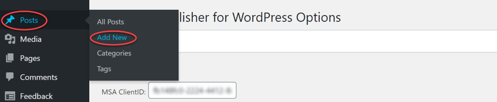 usher for WordPress Options